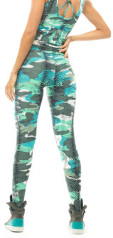 Vestem Green Camo Animal Print Legging