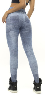 Vestem Denim Printed Booty Pocket Legging