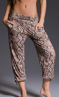 Onzie Brown Snake Gypsy Pants