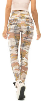 Vestem Brown Camo Animal Legging