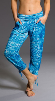 Onzie Blue Tie-Dye Gypsy Pants