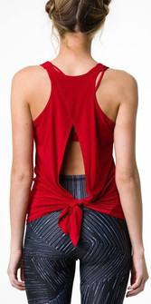 Onzie Red Hot Yoga Tie Back Tank