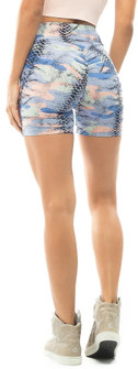 Vestem Blue Animal Camo Print Short