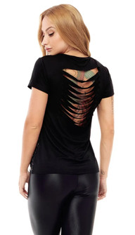 Vestem Splatter Slash Back Top