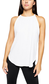 Strut-This White Rib Elle Tank Top