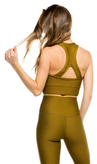 Strut-This Mustard Rib Bowie Crop Top