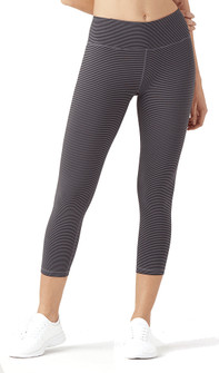Glyder Vital 7/8: Shark and Black Skinny Stripe Legging