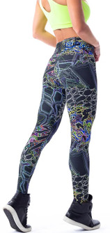 Vestem Imagination Print Scrunch Legging