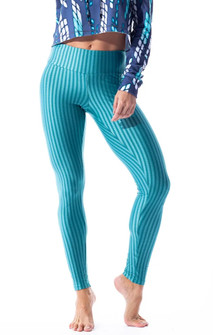 Vestem Verticle Striped Teal Legging