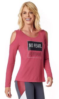 Vestem Pink No Fear Long Sleeve Blouse