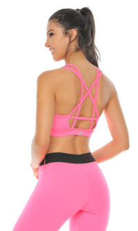 Protokolo Neon Pink Beverly Sports Bra