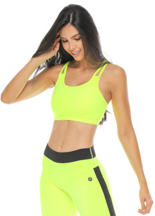 Protokolo Neon Green Beverly Sports Bra