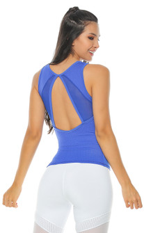 Protokolo Electric Blue Ciara Tank
