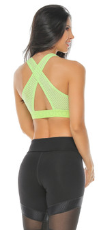 Protokolo Lt Green Abba Sports Bra
