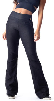 Vestem Dark Black Denim Look United Pant