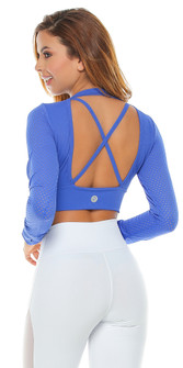 Protokolo Electric Blue Verna Mesh Top