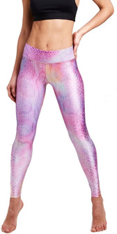 Terez Pink Python Tall Band Legging