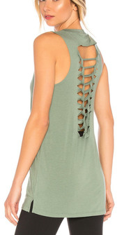 Onzie Braided Green Tank