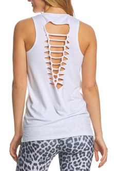 Onzie White Braided Tank