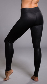 Black Textured Reptile Legging By Onzie Yoga Wear
