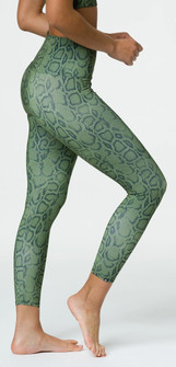 Onzie Olive Cobra Print High Waistband Legging