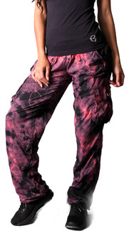 Equilibrium Coral Tie Dye Utility Cargo Pant