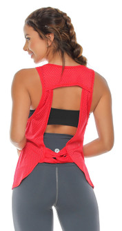 Protokolo Ariel Red Mesh Top