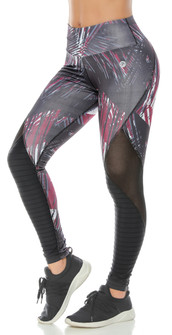 Protokolo Wine Printed Legging