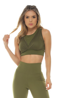 Protokolo Emma Army Green Sports Bra
