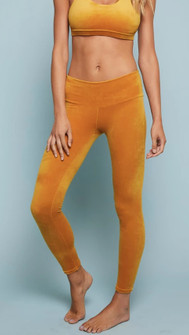 Niyama Sol Marigold Velour High Waisted Legging
