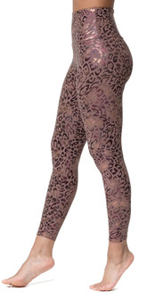 Onzie Golden Leopard Print High Waistband Legging