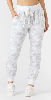 Glyder Apparel Halfway Joggger In White Camo Print