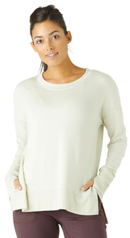 Glyder Apparel Lounge Long Sleeve In Crème