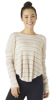 Glyder Apparel Freestyle Top In Rosewater Stripe