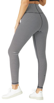 Glyder Apparel True Legging In Black-White Stripe