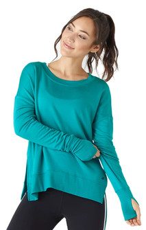 Glyder Apparel Lounge Long Sleeve In Jade