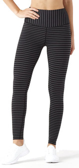 Glyder Apparel Sultry Legging Black-Silver Double Shimmer Stripe