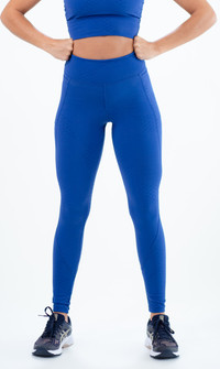 Equilibrium Storm Misty Textured Blue Legging