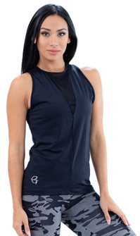 Equilibrium Black Jess Long Tank