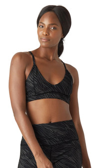 Glyder Apparel Shine Bralette In Black Zebra Print