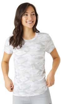 Glyder Apparel Simplicity Tee In White Camo Print