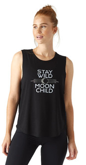Glyder Apparel Power Tank Stay Wild In Black