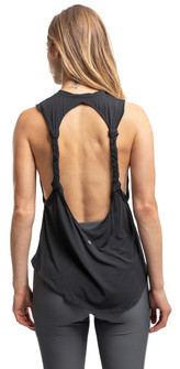 Amari Active Twisted Tank In Black