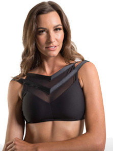 Amari Active Blush Bra In Black