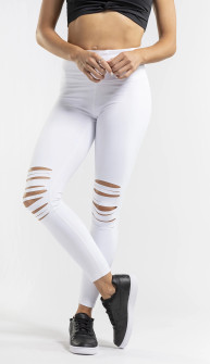 Amari Active Shredded Legging In White