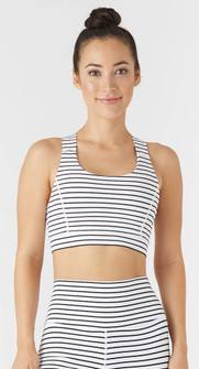 Glyder Apparel Full Force Bra - White - Black Stripes