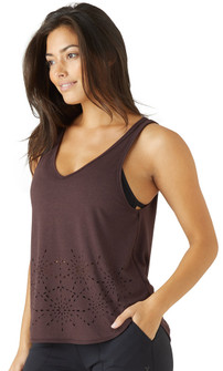Glyder Apparel Galaxy Tank In Deep Plum