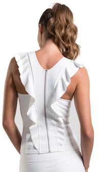 Amari Active Flirty Tank In White