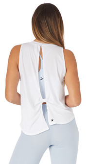 Glyder Apparel Electric Tank In White