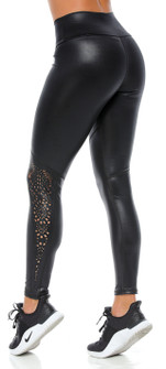 Protokolo Donna Laser Leggings In Black